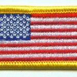 Fire Department American Flag Patch