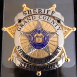 Grand Co Sheriff plastic pocket badge