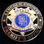 Lincoln Co Sheriff Anniv badge
