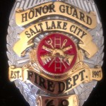 Salt Lake City Fire Dept. Honor Guard badge